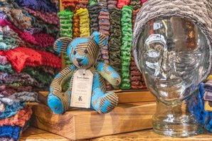 Traditional Burra Bear at Butik Nielavell, Hoswick